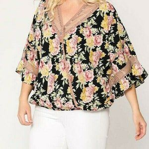 New Gigio By Umgee Floral Lace Plus Size